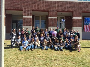 All us Truman aggies gathered for a group photo during the petting zoo last Friday.