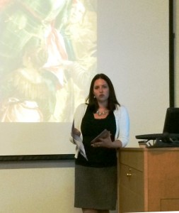 Leslie Contarini speaking to ART 324: Renaissance Art, November 2015.