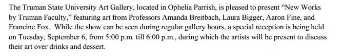 description of first gallery show