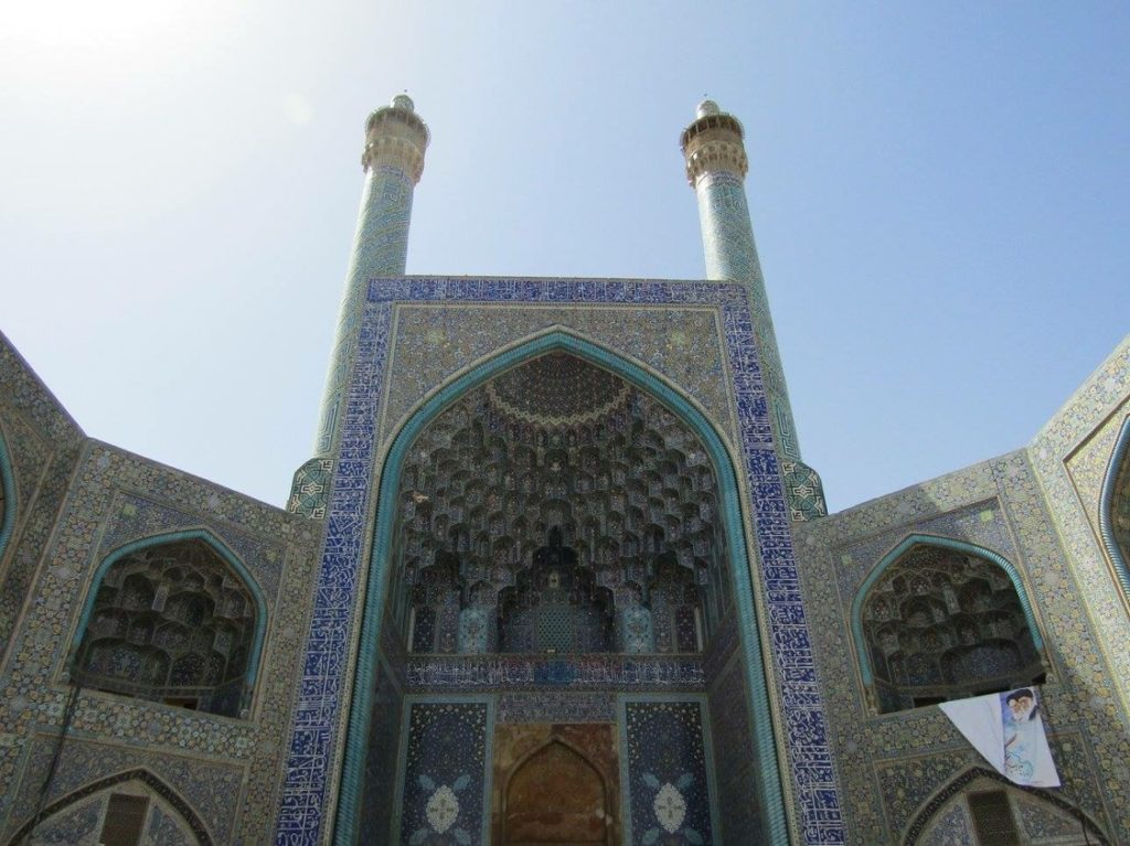 Mosaics on the Shah Mosque, Esfahan