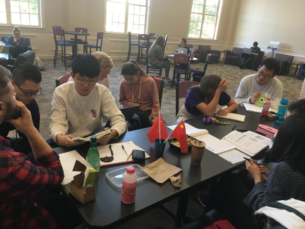 Encounter Some Chinese at the Weekly Chinese Language Table