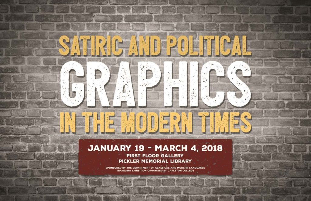 Satiric and Political Graphics in the Modern Times Exhibit