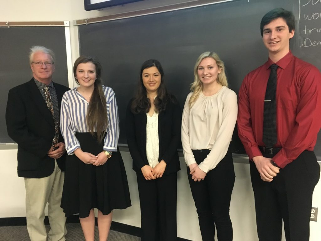 French students presented at the Student Research Conference