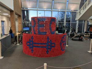 HES Student and Athlete Displays Cup Stacking