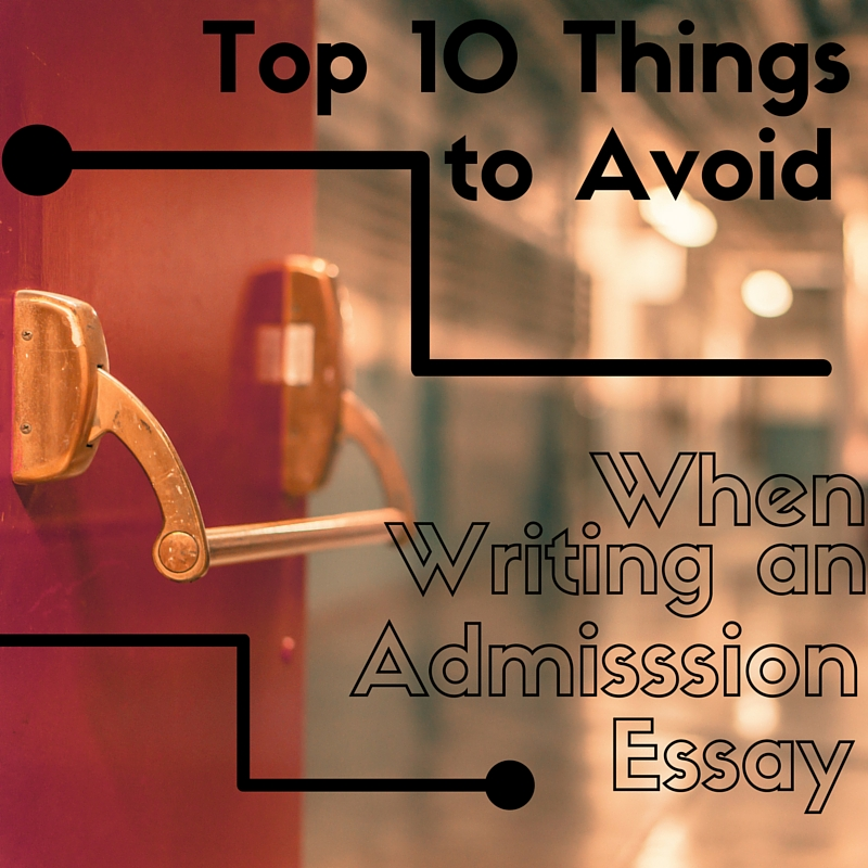 things to avoid when writing an essay