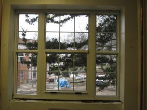 View of Courtyard through new windows 12-02-09
