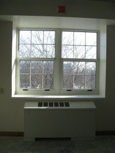 Completed window framework and HVAC system 02-26-10