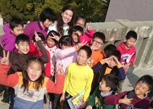 Fulbright Fellowship in Taiwan  - Emma with her students
