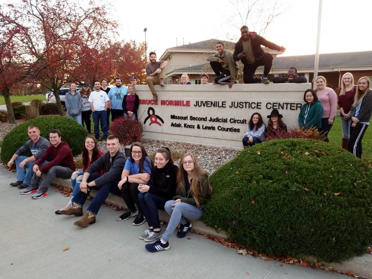 Justice Systems Juvenile Delinquency class toured Bruce Normile Center