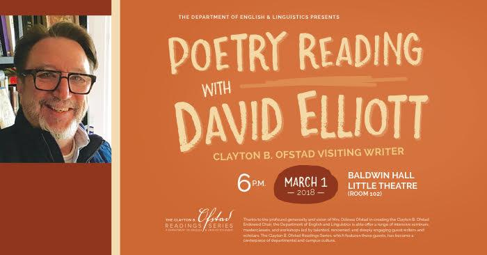 Poetry Reading with David Elliott