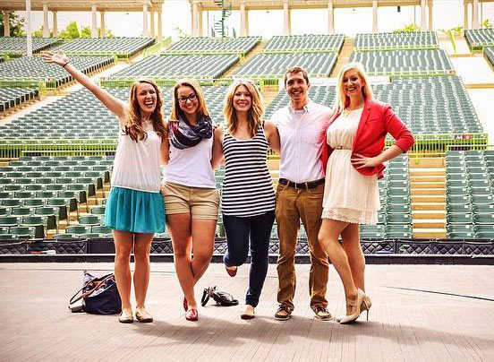 John O'Brien with friends at the Muny